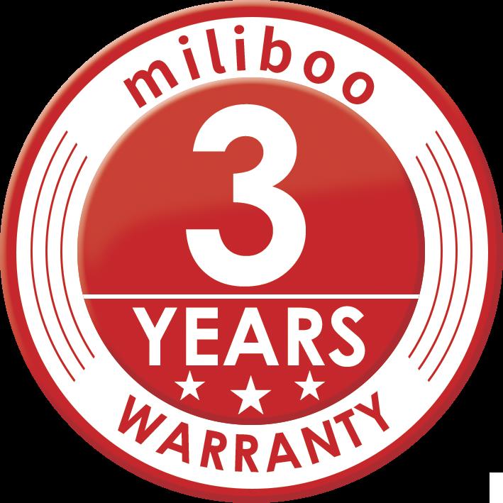 miliboo 3 years warranty